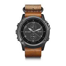 GARMIN Fenix 3 Sapphire Gray with Leather Strap