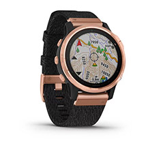 GARMIN Fenix 6S Sapphire Rose Gold-tone with Heathered Black Nylon Band