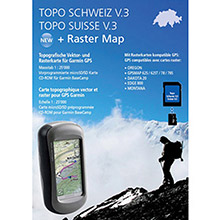 GARMIN TOPO Swiss v3 2011, DVD and SD card