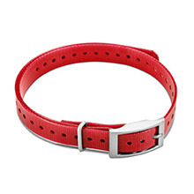 GARMIN 3/4 in Collar Strap Red for delta, mini t5, tt15
