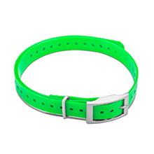 GARMIN 3/4 in Collar Strap Green for delta, mini t5, tt15