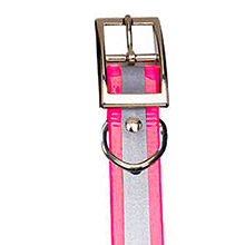 GARMIN Reflective Collar Strap Pink for DC 40