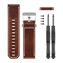 GARMIN Brown Leather Watch Band