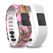 GARMIN Pink Camo and White Bands for vivofit 3