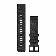 GARMIN QuickFit 20 mm Heathered Black Nylon with Black Hardware