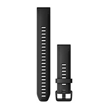 GARMIN QuickFit 20 mm Black Silicone (Large)