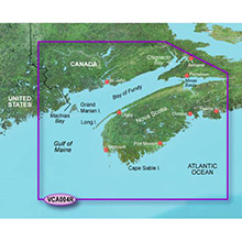 GARMIN CA, Bay of Fundy, (VCA004R) BlueChart g2 Vision HD map