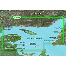 GARMIN CA, Les Mechins to St. George Bay, (VCA007R) BlueChart g2 Vision HD map