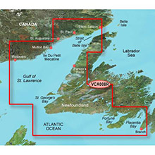 GARMIN CA, Newfoundland West, (VCA008R) BlueChart g2 Vision HD map