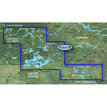 GARMIN Great Lakes - Lake of the Woods, Rainy Lake, (VCA012R) BlueChart g2 Vision HD map