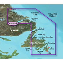 GARMIN CA, Labrador Coast, (VCA013R) BlueChart g2 Vision HD map