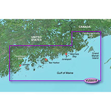 GARMIN US, North Maine, (VUS001R) BlueChart g2 Vision HD map