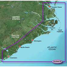 GARMIN US, Norfolk-Charleston, (VUS007R) BlueChart g2 Vision HD map