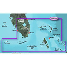 GARMIN US, Southeast Florida, (VUS010R) BlueChart g2 Vision HD map