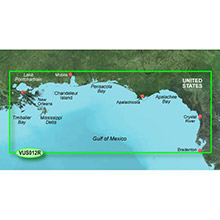 GARMIN US, Tampa to New Orleans, (VUS012R) BlueChart g2 Vision HD map
