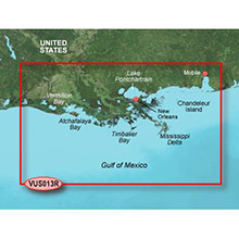 GARMIN US, Mobile to Lake Charles, (VUS013R) BlueChart g2 Vision HD map