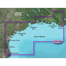 GARMIN US, Morgan City to Brownsville, (VUS014R) BlueChart g2 Vision HD map