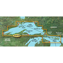 GARMIN Great Lakes - Lake Superior, (VUS015R) BlueChart g2 Vision HD map