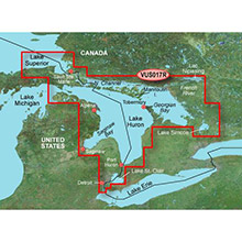 GARMIN Great Lakes - Lake Huron, Lake St. Clair, (VUS017R) BlueChart g2 Vision HD map