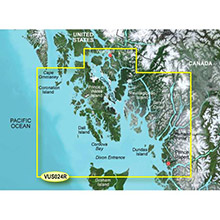 GARMIN Alaska, Wrangell to Dixon Entrance, (VUS024R) BlueChart g2 Vision HD map