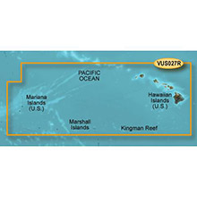 GARMIN US, Hawaiian Is., Mariana Is., (VUS027R) BlueChart g2 Vision HD map