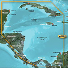 GARMIN Central America, Southwest Caribbean, (VUS031R) BlueChart g2 Vision HD map