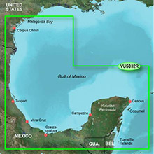 GARMIN Central America, Southern Gulf of Mexico, (VUS032R) BlueChart g2 Vision HD map