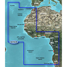 GARMIN Africa West, (VAF003R), BlueChart g2 Vision HD map