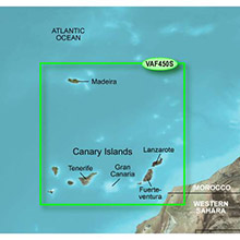 GARMIN Africa, Madeira and Canary Islands, (VAF450S), 2008 BlueChart g2 Vision map