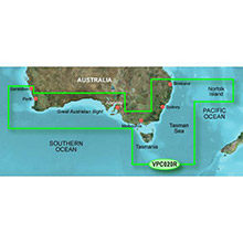 GARMIN Australia, Brisbane SW to Geraldton, (VPC020R), BlueChart g2 Vision HD map