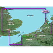 GARMIN Europe, Dover to Amsterdam and England Southeast, (VEU002R), BlueChart g2 Vision HD map