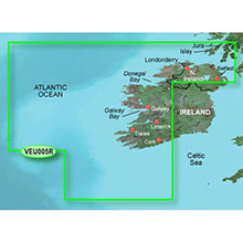 GARMIN Europe, Ireland, West Coast, (VEU005R), BlueChart g2 Vision HD map