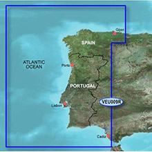 GARMIN Europe, Portugal and Northwest Spain, (VEU009R), BlueChart g2 Vision HD map