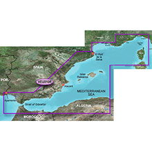 GARMIN Europe, Mediterranean Sea, Genova-Ayamonte (VEU010R), BlueChart g2 Vision HD map