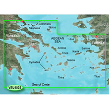 GARMIN Europe, Athens and Cyclades, (VEU450S), BlueChart g2 Vision HD map