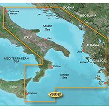 GARMIN Europe, Adriatic Sea, South Coast, (VEU453S), BlueChart g2 Vision HD map