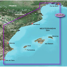 GARMIN Europe, Barcelona and Valencia, (VEU454S), BlueChart g2 Vision HD map
