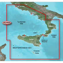 GARMIN Europe, Sicily to Lido di Ostia, (VEU460S), BlueChart g2 Vision HD map