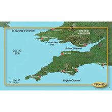 GARMIN Europe, Bristol Channel and England S/W, (VEU463S), BlueChart g2 Vision HD map