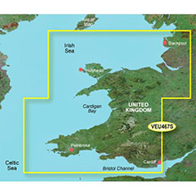 GARMIN Europe, Blackpool to Cardiff, (VEU467S), BlueChart g2 Vision HD map