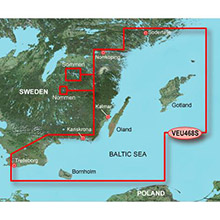 GARMIN Europe, Sodertalje to Trelleborg, (VEU468S), BlueChart g2 Vision HD map