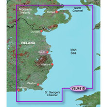 GARMIN Europe, Belfast to Waterford, (VEU481S), BlueChart g2 Vision HD map