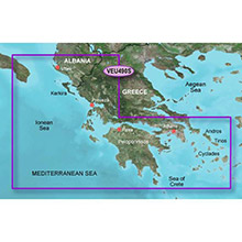 GARMIN Europe, Greece West Coast and Athens, (VEU490S), BlueChart g2 Vision HD map