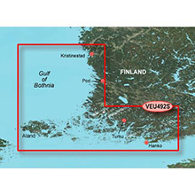 GARMIN Europe, Kristinestad to Hanko, (VEU492S), BlueChart g2 Vision HD map