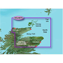 GARMIN Europe, Orkneys and Moray Firth, (VEU497S), BlueChart g2 Vision HD map