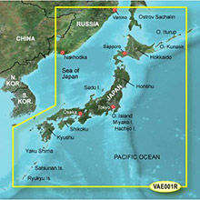 GARMIN Asia, Japan, (VAE001R), BlueChart g2 Vision HD map