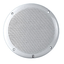 POLY-PLANAR 6 inch Dual Cone Integral Grill Speaker - (Pair) White