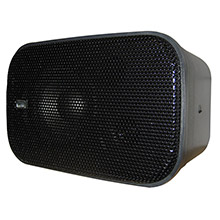 POLY-PLANAR Compact Box Speaker - 7-1/2 inch x 4-15/16 inch x 4-15/16 inch - (Pair) Black
