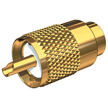 SHAKESPEARE Pl-259-58-g gold solder-type connector w/ug175 adapter doodad cable strain relief f/rg-58x