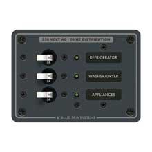 BLUE SEA 8158 breaker panel 230vac 3 pos